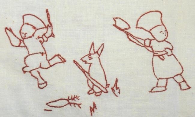 Coniglio con bastone